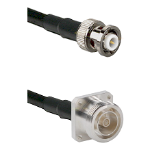 MHV Male Connector On LMR-240UF UltraFlex To 7/16 4 Hole Female Connector Cable Assembly