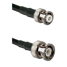 MHV Male Connector On LMR-240UF UltraFlex To BNC Male Connector Cable Assembly