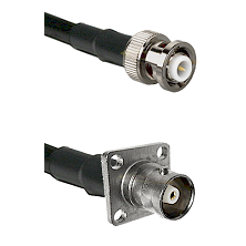 MHV Male Connector On LMR-240UF UltraFlex To C 4 Hole Female Connector Cable Assembly