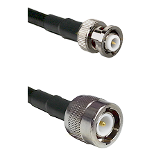 MHV Male Connector On LMR-240UF UltraFlex To C Male Connector Cable Assembly