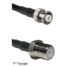 MHV Male Connector On LMR-240UF UltraFlex To F Female Connector Cable Assembly