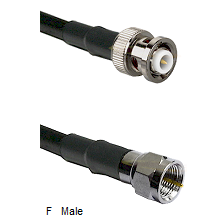 MHV Male Connector On LMR-240UF UltraFlex To F Male Connector Cable Assembly