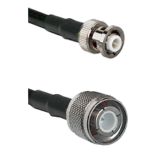 MHV Male Connector On LMR-240UF UltraFlex To HN Male Connector Cable Assembly