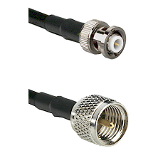 MHV Male Connector On LMR-240UF UltraFlex To Mini-UHF Male Connector Cable Assembly