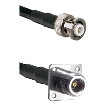 MHV Male Connector On LMR-240UF UltraFlex To N 4 Hole Female Connector Cable Assembly