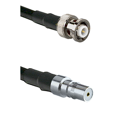 MHV Male Connector On LMR-240UF UltraFlex To QMA Female Connector Cable Assembly