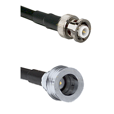 MHV Male Connector On LMR-240UF UltraFlex To QN Male Connector Cable Assembly