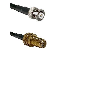 MHV Male Connector On LMR-240UF UltraFlex To SMA Reverse Polarity Female Bulkhead Connector Coaxial
