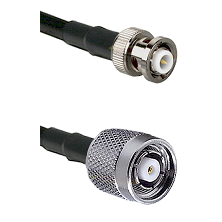 MHV Male Connector On LMR-240UF UltraFlex To TNC Reverse Polarity Male Connector Coaxial Cable Assem