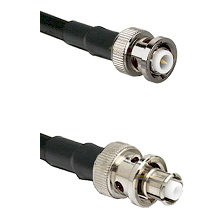 MHV Male Connector On LMR-240UF UltraFlex To SHV Plug Connector Cable Assembly