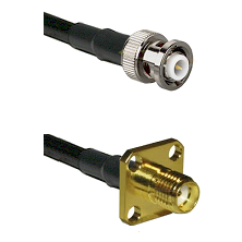 MHV Male Connector On LMR-240UF UltraFlex To SMA 4 Hole Female Connector Cable Assembly