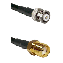 MHV Male Connector On LMR-240UF UltraFlex To SMA Female Connector Cable Assembly