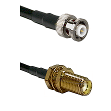 MHV Male Connector On LMR-240UF UltraFlex To SMA Female Bulkhead Connector Cable Assembly