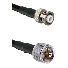 MHV Male Connector On LMR-240UF UltraFlex To UHF Male Connector Cable Assembly