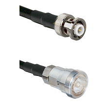 MHV Male on RG142 to 7/16 Din Female Cable Assembly