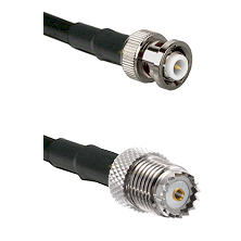 MHV Male on RG142 to Mini-UHF Female Cable Assembly
