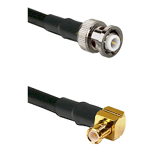 MHV Male on RG142 to MCX Right Angle Male Cable Assembly