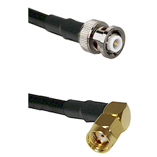 MHV Male on RG400 to SMA Reverse Polarity Right Angle Male Cable Assembly