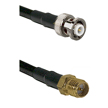MHV Male on RG400 to SMA Reverse Polarity Female Cable Assembly