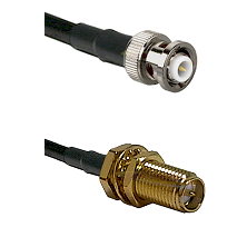 MHV Male on RG400 to SMA Reverse Polarity Female Bulkhead Cable Assembly