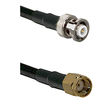 MHV Male on RG400 to SMA Reverse Polarity Male Cable Assembly