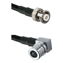 MHV Male on RG400 to QMA Right Angle Male Cable Assembly