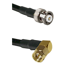 MHV Male on RG400 to SMA Right Angle Male Cable Assembly