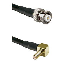 MHV Male on RG400 to SSLB Right Angle Male Cable Assembly