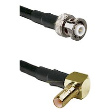 MHV Male on RG400 to SSMB Right Angle Male Cable Assembly