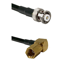 MHV Male on RG400 to SSMC Right Angle Female Cable Assembly