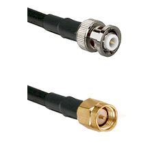 MHV Male on RG400 to SMA Reverse Thread Male Cable Assembly