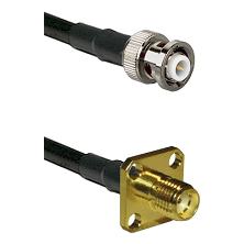 MHV Male on RG400 to SMA 4 Hole Female Cable Assembly
