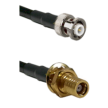 MHV Male on RG400 to SMB Female Bulkhead Cable Assembly