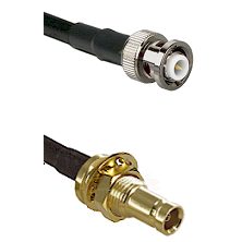 MHV Male on RG58C/U to 10/23 Female Bulkhead Cable Assembly
