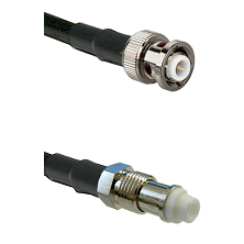 MHV Male on RG58C/U to FME Female Cable Assembly
