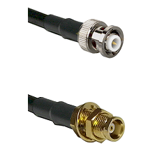 MHV Male on RG58C/U to MCX Female Bulkhead Cable Assembly