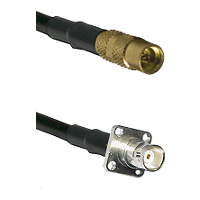 MMCX Female on LMR100 to BNC 4 Hole Female Cable Assembly