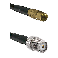 MMCX Female on LMR100 to Mini-UHF Female Cable Assembly