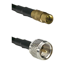 MMCX Female on LMR100 to Mini-UHF Male Cable Assembly