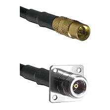 MMCX Female on LMR100 to N 4 Hole Female Cable Assembly