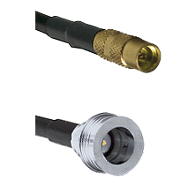 MMCX Female on LMR100/U to QN Male Cable Assembly