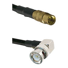MMCX Female on LMR100 to BNC Right Angle Male Cable Assembly