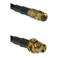 MMCX Female on RG188 to MCX Female Bulkhead Cable Assembly