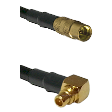 MMCX Female on RG188 to MMCX Right Angle Male Cable Assembly