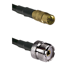 MMCX Female To UHF Female Connectors RG188 Cable Assembly