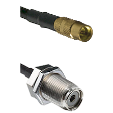 MMCX Female On RG223 To UHF Female Bulk Head Connectors Coaxial Cable