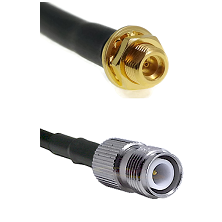MMCX Female Bulkhead on LMR100 to TNC Reverse Polarity Female Cable Assembly