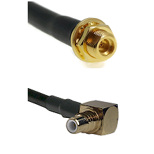 MMCX Female Bulkhead on LMR100 to SMC Right Angle Male Cable Assembly