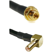 MMCX Female Bulkhead on LMR100 to SSMB Right Angle Male Cable Assembly