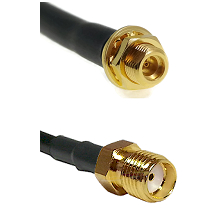 MMCX Female Bulkhead on LMR100 to SMA Reverse Thread Female Cable Assembly